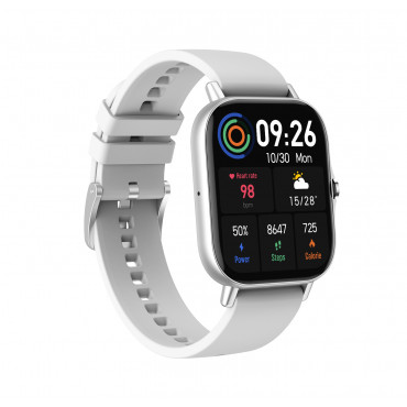 FLORAL CALLING SMART WATCH COLOR SILVER, SILICON STRAP