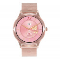 RUBY SMART WATCH DIMOND CUT DESIGN FOR LADIES COLOR ROSE GOLD