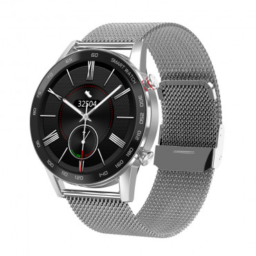 CALYBRE CALLING SMART WATCH METAL QUALITY, METAL STAINLESS CHAIN, COLOR SILVER