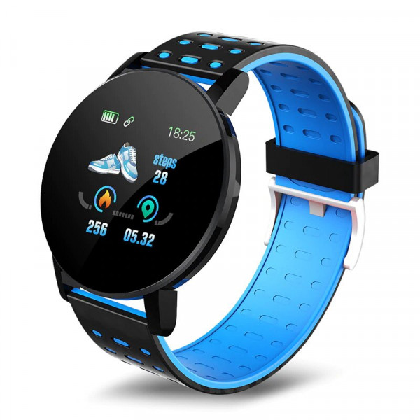 ONE-Blue Round Smart Watch, Blood Pressure, Bluetooth Smartwatch, Men Women Smart Watch, Waterproof And Sports