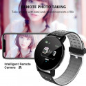 ONE-Gray Round Smart Watch, Blood Pressure, Bluetooth Smartwatch, Men Women Smart Watch, Waterproof And Sports