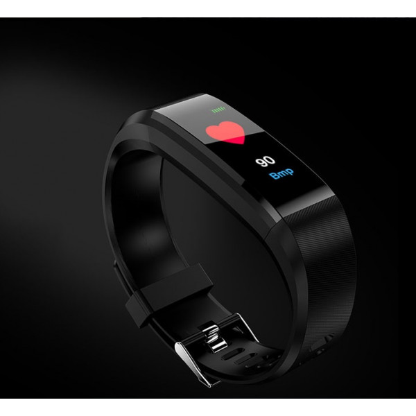 REX PLUS-Black Smart Bracelet Heart Rate Blood Pressure Smart Band Fitness Tracker Smartband Bluetooth Wristband For Man And Women