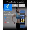 REX PLUS-Blue Smart Bracelet Heart Rate Blood Pressure Smart Band Fitness Tracker Smartband Bluetooth Wristband For Man And Women