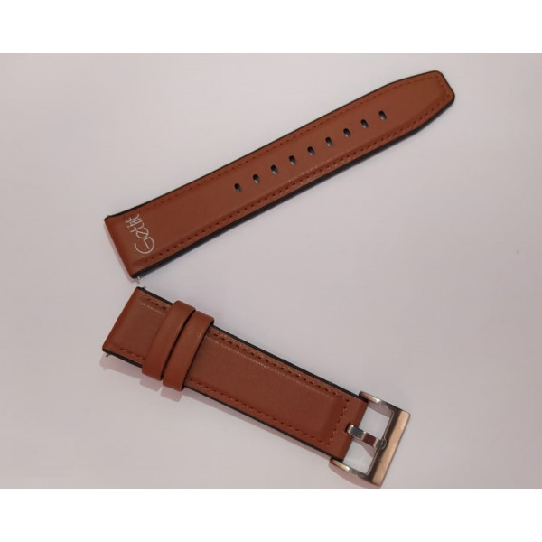 Brown Leather Style Rubber Made Band For Smart Watch