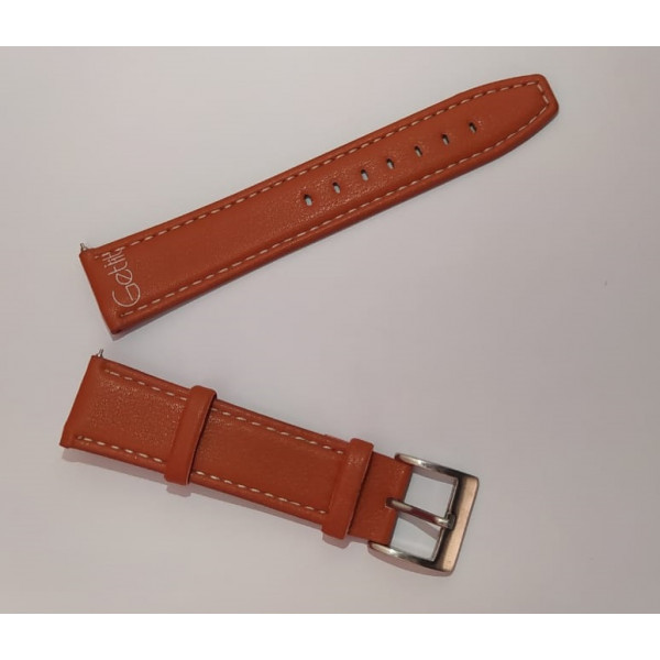 Brown Leather Strap For Smart Watch