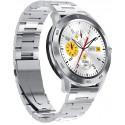 TESLA-Silver Waterproof Smart Watch, Blood Pressure/Heart Rate Monitor Watch Sleep Tracker, Full Touch Screen Sport Smartwatch Fitness Bracelet