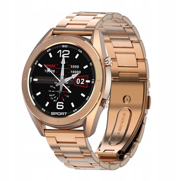 TREND-Gold Smartwatch, Metal Case Bracelet Smart Watch