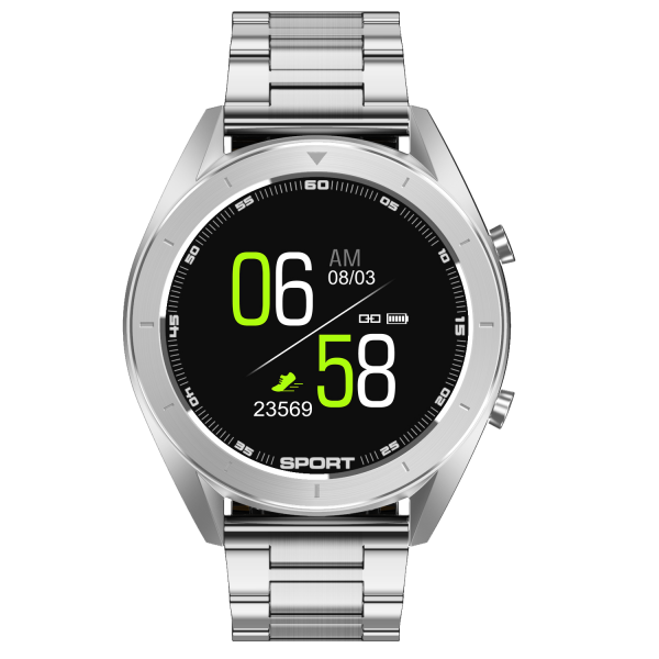 TREND-Silver Smartwatch, Metal Case Bracelet Smart Watch