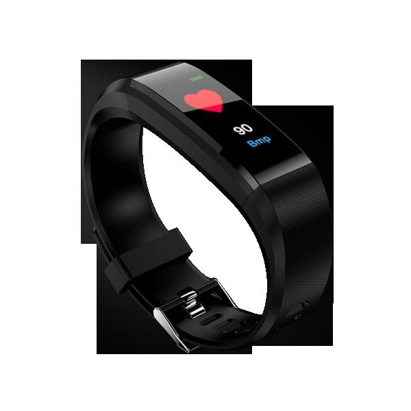 REX PLUS-Black Smart Bracelet Heart Rate Blood Pressure Smart Band Fitness Tracker Smartband Bluetooth Wristband For Man And Women