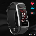 Pulse II-4th Generation Health Band, Soft Changeable Strap, Color Screen, Continue Heart Rate Monitor Smartwatch
